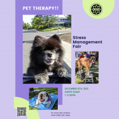 Image for Pet Therapy During The Stress Management Fair