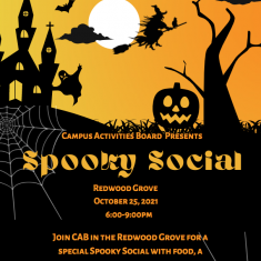Image for Campus Activities Board Spooky Social in the Redwood Grove!