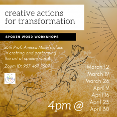 Image for Creative Actions for Transformation | Spoken Word Workshops