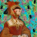 Jane Seymour White Cloud Chief of the Iowas (2015) digital collage