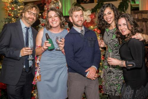 Staff at President's Christmas Party.