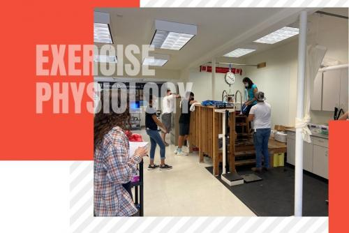 Kinesiology 110 class in the Human Performance Lab