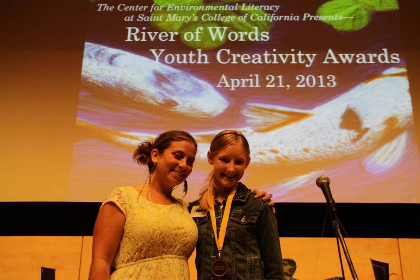 Anne Atwell McLeod, teacher, and award-winning student at the 2013 River of Words Ceremony