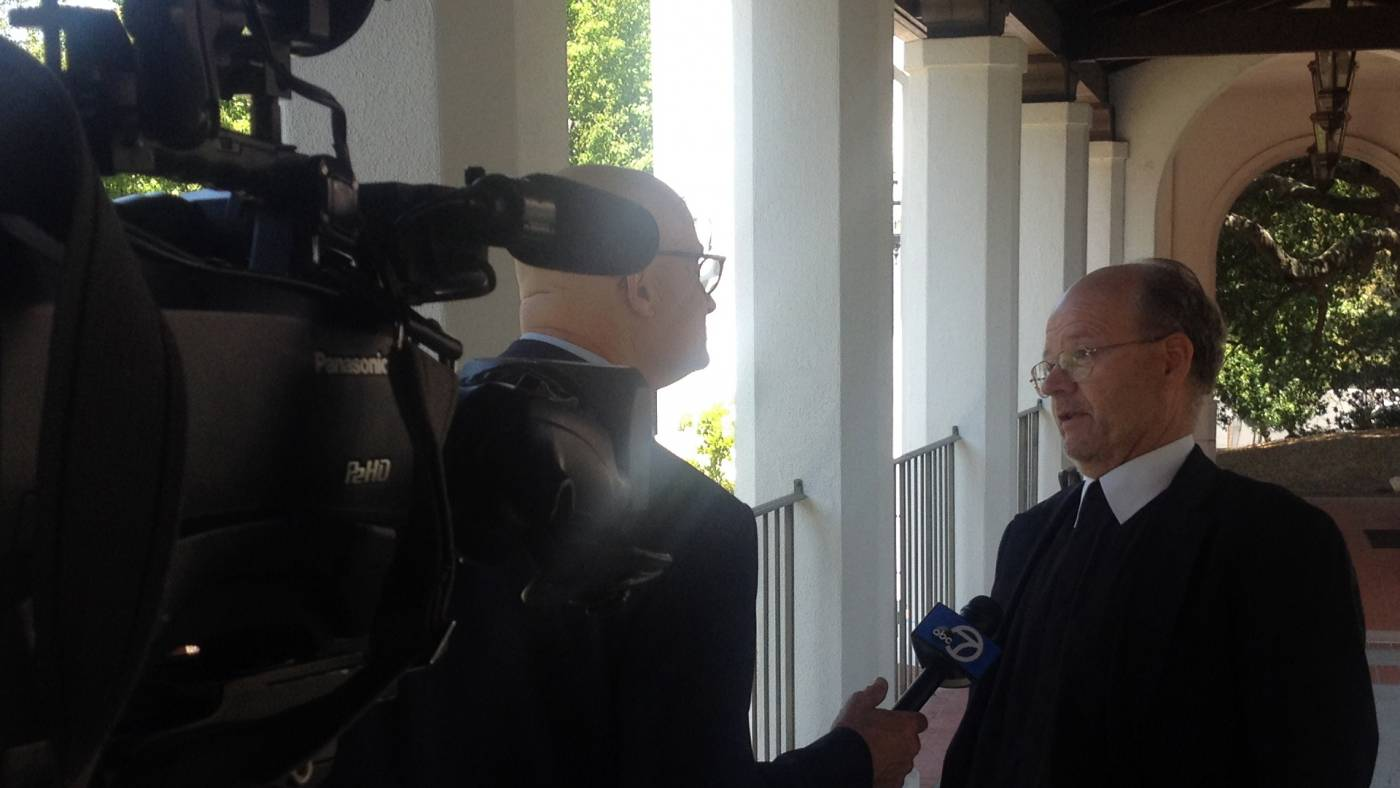ABC7's Wayne Freedman interviews Brother Charles Hilken about Pope Francis' encyclical on the environment.