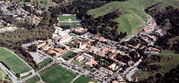 Aerial view of Saint Mary's campus.