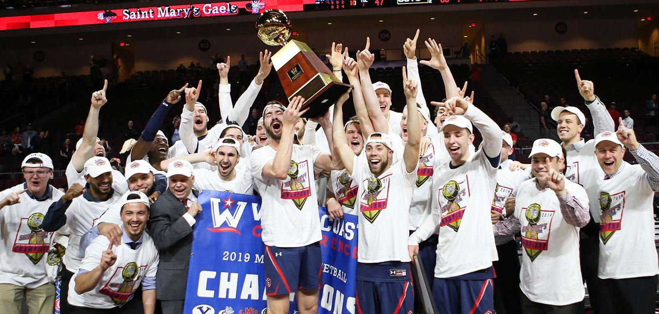 Gaels defeated No. 1 Zags to win WCC Tournament! Go Gaels!