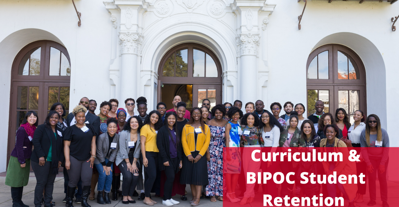 BSU convocation picture with word Curriculum and BIPOC student Retention