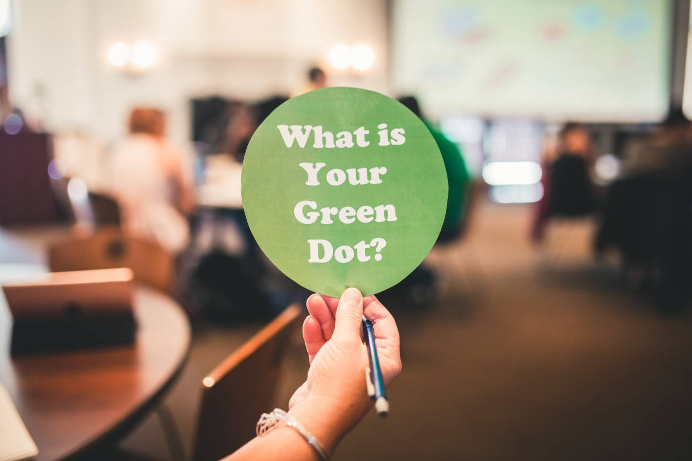 <p>What's your Green Dot?</p>