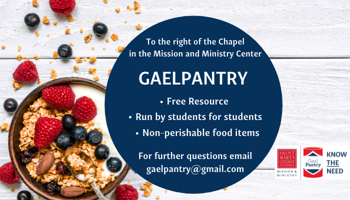 GaelPantry Banner for 1st year students