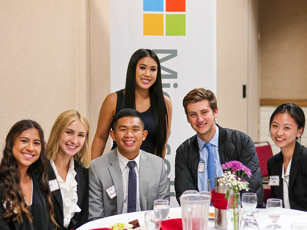 Career and Professional Development Services invited Microsoft to campus to host an invitation-only dinner for students.