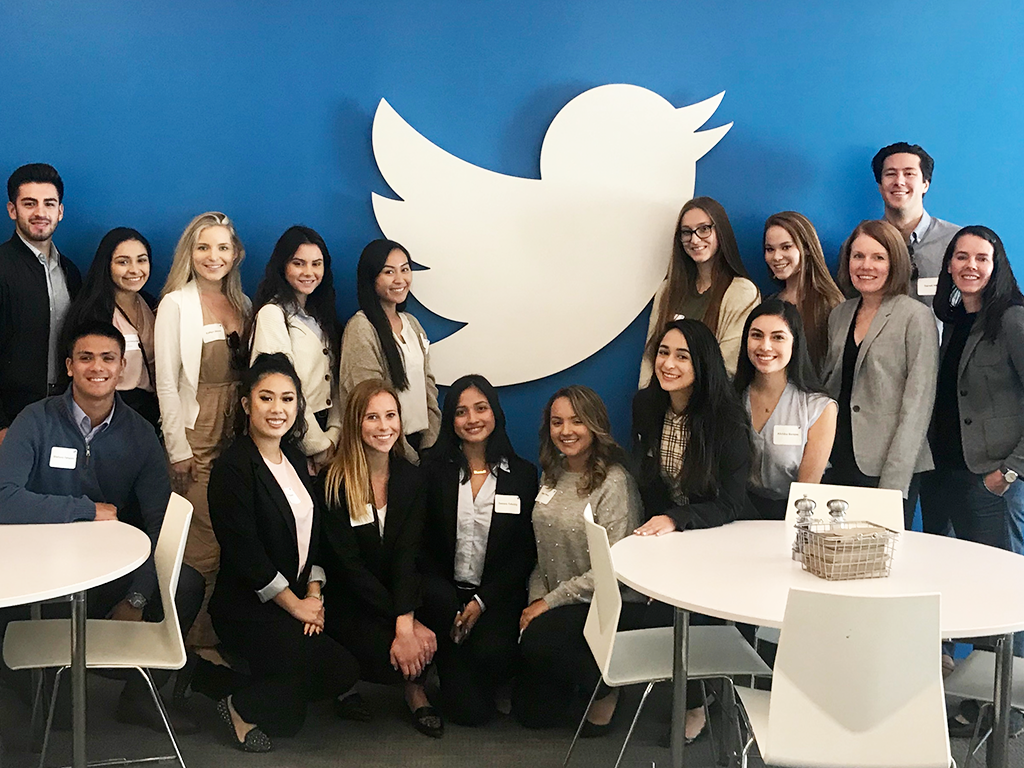 Students Network the Day Away at Twitter