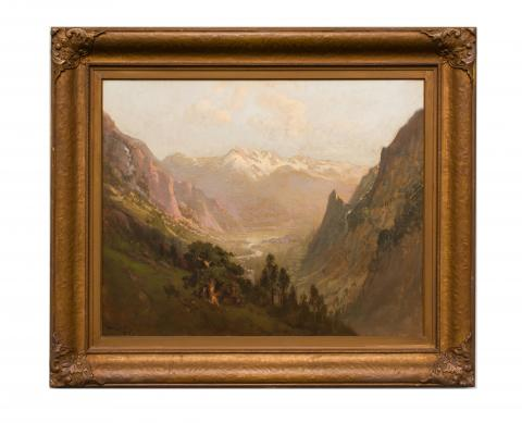 William Keith, (b. Scotland) United States, High Sierra Canyon (c. 1900–1905) Oil on canvas, Gift of Benjamin H. Lehman  [0-91]
