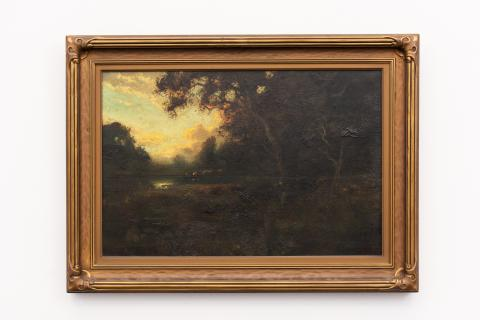 William Keith (b. Scotland) United States, Reflections of Clouds, Somber, and Grand, Oil on canvas, c. 1900–1910, Gift of Morris A. Wayne, M.D. [ 0-96]