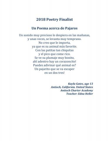 2018 River of Words Winners and Finalists