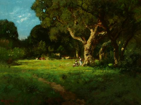 William Keith, Secluded Grove, 1898, Oil on canvas, 12 x 16 inches, Collection of Saint Mary's College Museum of Art,  0-151