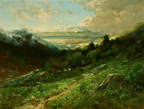 William Keith, After the Storm: Nature Refreshed and Revived, 1896, Oil on canvas, 30 x 40 inches, Collection of Saint Mary's College Museum of Art,  College purchase, 0-528
