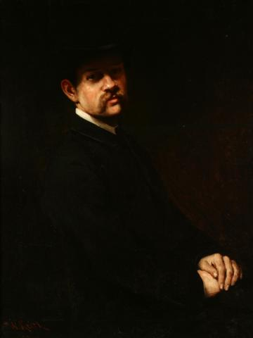 William Keith Frank Hittell, circa 1890 Oil on canvas, 36 ½ x 28 inches Collection of Saint Mary's College Museum of Art  College purchase with assistance from Steve and Patty Pauly 2004.14