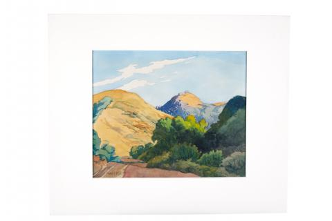 William S. Rice (1873–1963) United States, Untitled [Bay Area Hills] n.d. Watercolor on paper, College purchase [2006.7.2]