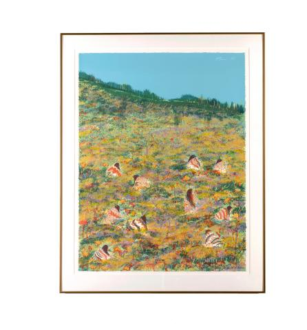 Earl Biss (1947-1998) United States, A Day for Wild Flowers, 1979, Serigraph Ed. 19/60, Gift of Dr. Edward and Marjorie Cahn [2012.8.3]