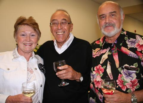 Cheryl Kelly, Brother Bernard LoCoco and Brother Michael Meister celebrate the completion of the new center.