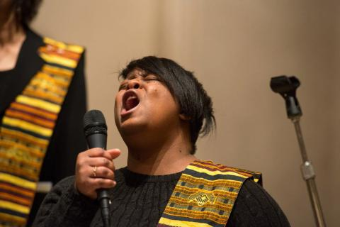 A St. Columba choir member takes center stage.