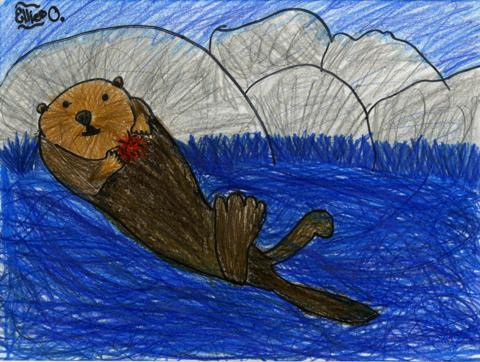 Untitled, Ellie Oeltmann, age 9 Decatur, Georgia Cliff Valley School Teacher: Kathy Peters, 2013 River of Words Finalist