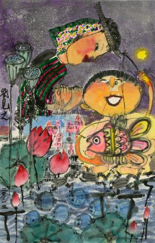 """Celebrating the Lantern Festival in the Fishing Village"" by Lau Kin Gi (8), Hong Kong, China (c) 2014 River of Words"