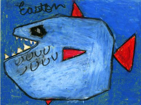"""Shark"" by Easton Kincaid (8), Atlanta, GA (c) 2014 River of Words"
