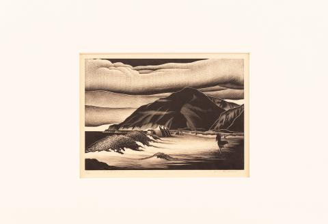 Paul Hambleton Landacre (1893–1963) United States, Campers, c. 1939–1940, Woodcut engraving on paper, College purchase [2018.3.2]