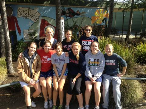 Kinesiology students and faculty at the 2013 Bay Area Schools' Service Day