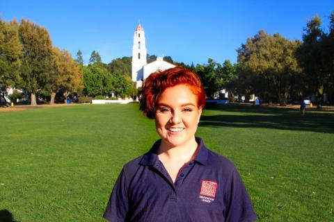 My name is Emily Gisler and I hail from the beautiful city of Roseville, CA. I am a junior studying Psychology and Women and Gender Studies. I simply cannot wait to welcome the incoming students to our community and help them find their place on campus- Go Gaels!
