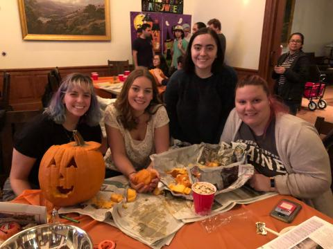 Pumpkin Carving at Community Night