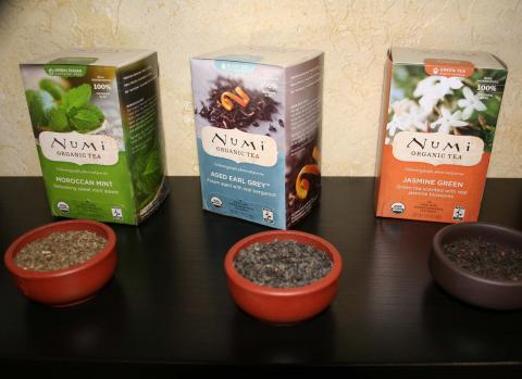 Numi teas are all 100% organic and packaged in boxes made from bamboo.