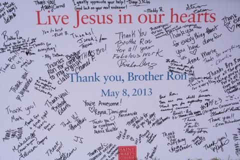 Brother Ron farewell