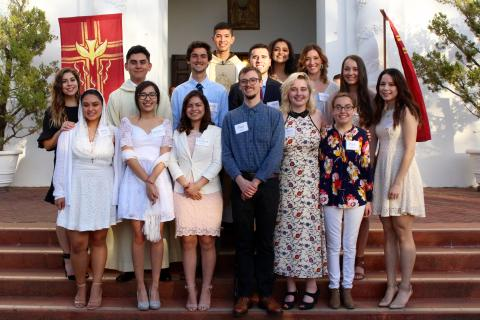 13 confirmandi are welcomed into the Catholic Church