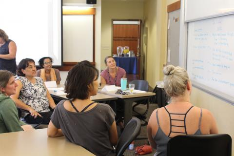 Features Dr. Raina J. León, Associate Professor, author, and writer of poetry, fiction and nonfiction, at the 2019 CEL Summer CO-LAB at Saint Mary's College of California: July 26-28th, 2019. Photography by Maureen Esty and Haley Nelson