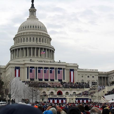 The Capitol Building on Inauguration Day