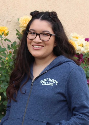 Hi y'all my name is Karina! I am a Justice, Community and Leadership major on the MSTE track. I am from Rancho Santa Margarita, CA but I also can't forget my second home in Moraga. At Saint Mary's I work in the Admissions Office and I am also a receptionist for the School of Education on campus! I can't wait to meet everyone, looking forward to a great year :))