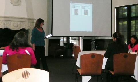 Rita Pearson of IT Services showed off some great apps for mobile devices.