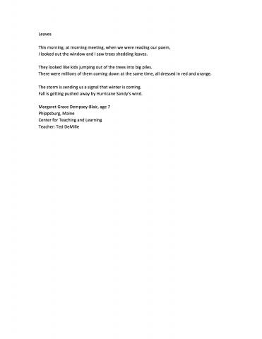 2013 Poetry Gallery | Saint Mary\'s College