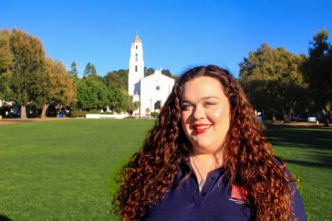 Hi y'all, my name is Mary Conlon and I'm a junior from Fremont, CA. I am majoring in English and minoring in Women and Gender Studies and Justice, Community, and Leaderships's 4+1 Single Subject Credential track. I'm so excited to welcome incoming students to their new home!