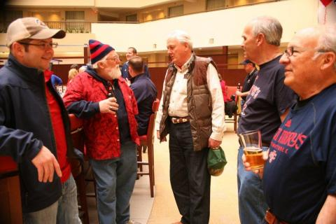 Some diehard Gaels fans including Mike Herbold and Ken Dothee, class of '67. Ken Dothee hasn't missed a postseason game other than the game in Dayton in over 50 years!