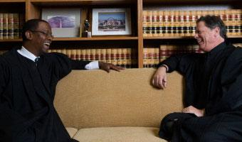 Sacramento County Superior Court Judges Troy Nunley and Jaime Roman.