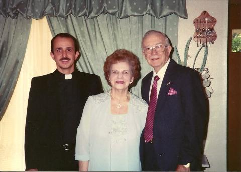 Father Sal with his mother and father