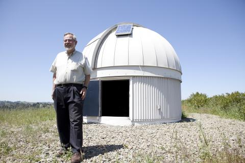 Ron Olowin outside the SMC Observatory