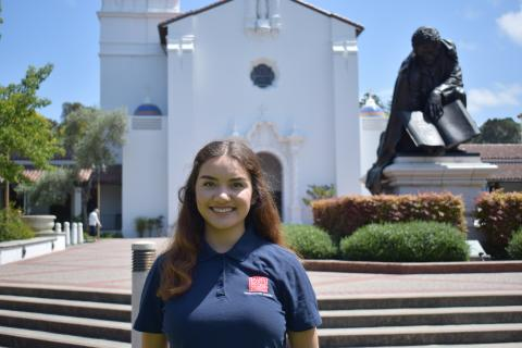 I am Sophia Courtemarche from Huntington Beach, CA. I am majoring in Design and Technical Theatre with a minor in dance. I am so excited to welcome all of our new Gaels!