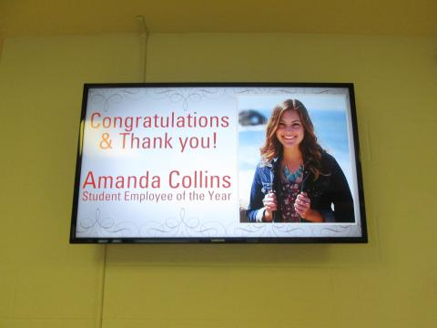 Campus-wide digital signage acknowledgement