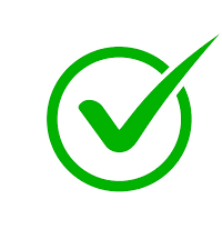 Image of a green checkmark in the middle of a green circle