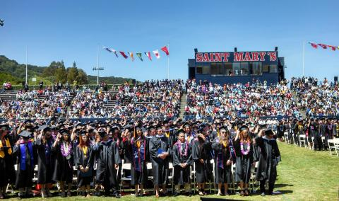 Kinesiology Graduates and Faculty at Commencement, May 25, 2013.