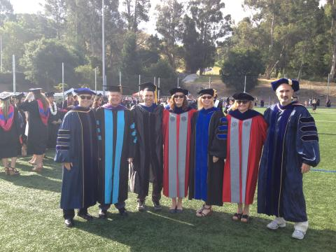 Kinesiology faculty at commencement